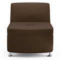 JSI Moto Lounge Seating - Leather Inline Armless Club Chair