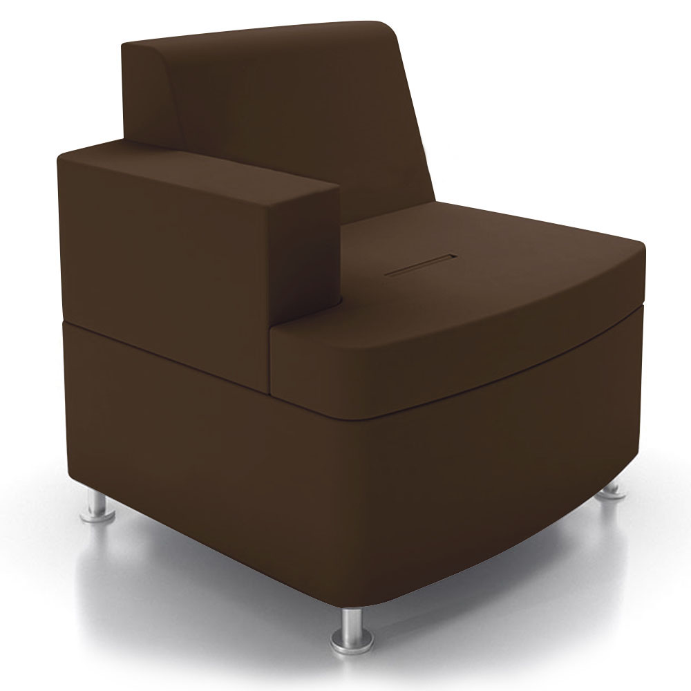 JSI Moto Lounge Seating - Leather Inline Right Arm Club Chair