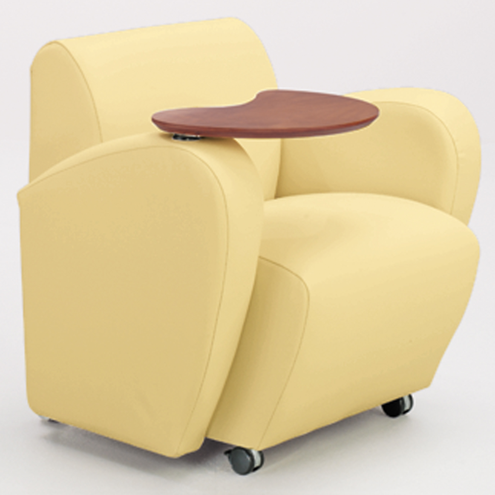 JSI Encore Tablet Arm Chair - Leather Arms, Right Hand Folding Tablet