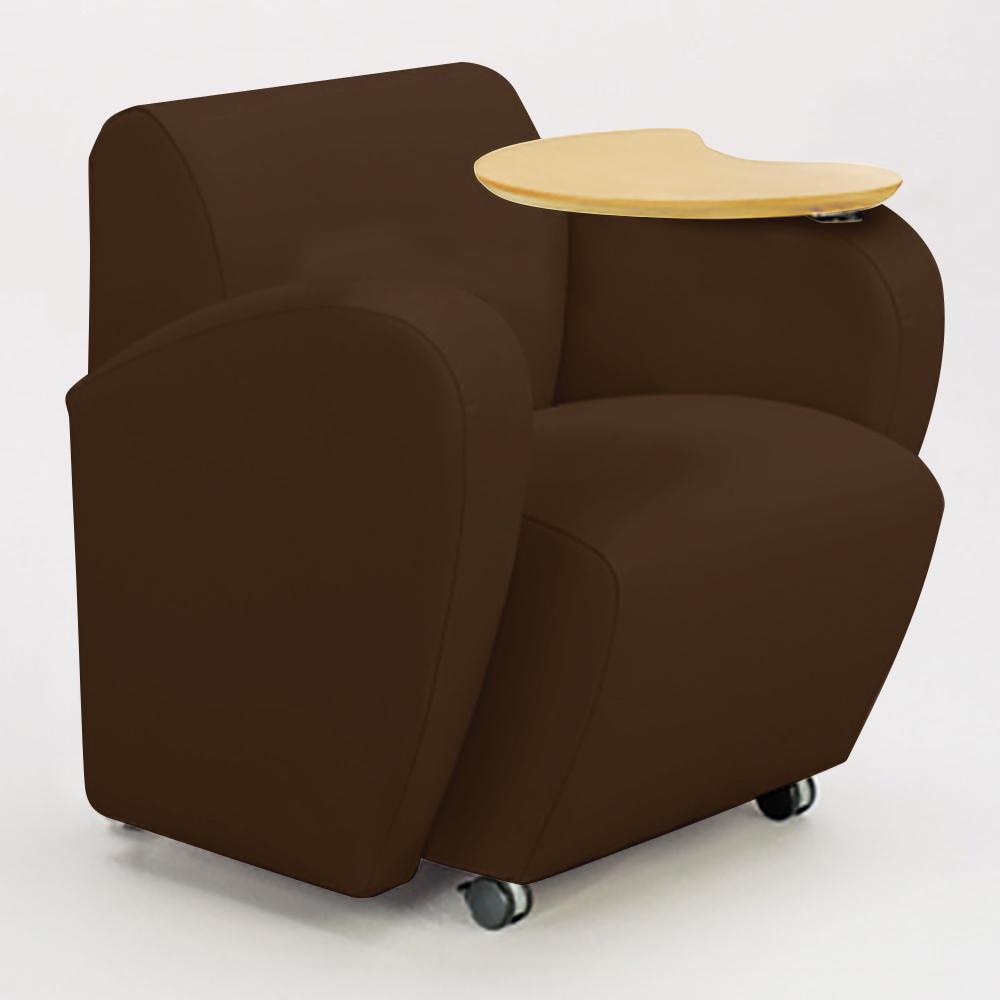 JSI Encore Tablet Arm Chair - Leather Arms, Left Hand Folding Tablet