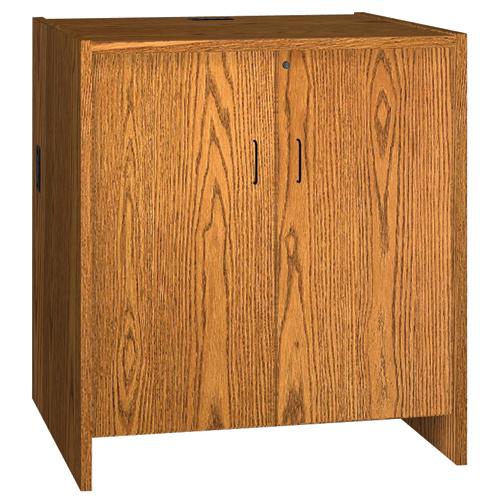 "IRONWOOD Glacier™ Circulation Desk - 39""H Hinged Door Cabinet"