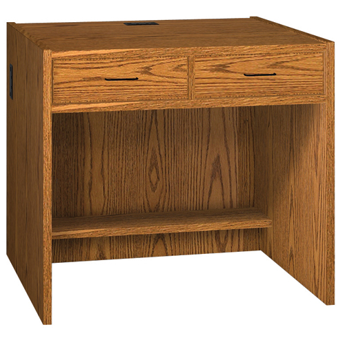 "IRONWOOD Glacier™ Circulation Desk - 32""H 2 Drawer Desk"