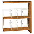 IRONWOOD Glacier™ Laminate Picture Book Library Shelving - 42H x 12D Single-Face Adder