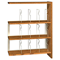 IRONWOOD Glacier™ Laminate Picture Book Library Shelving - 48H x 12D Single-Face Adder