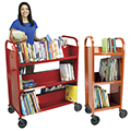 TLS™ KODIAK II™ Premium Book Trucks with Candy Apple Finish