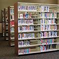 estey® Steel Cantilever Library Shelving - Single-Faced