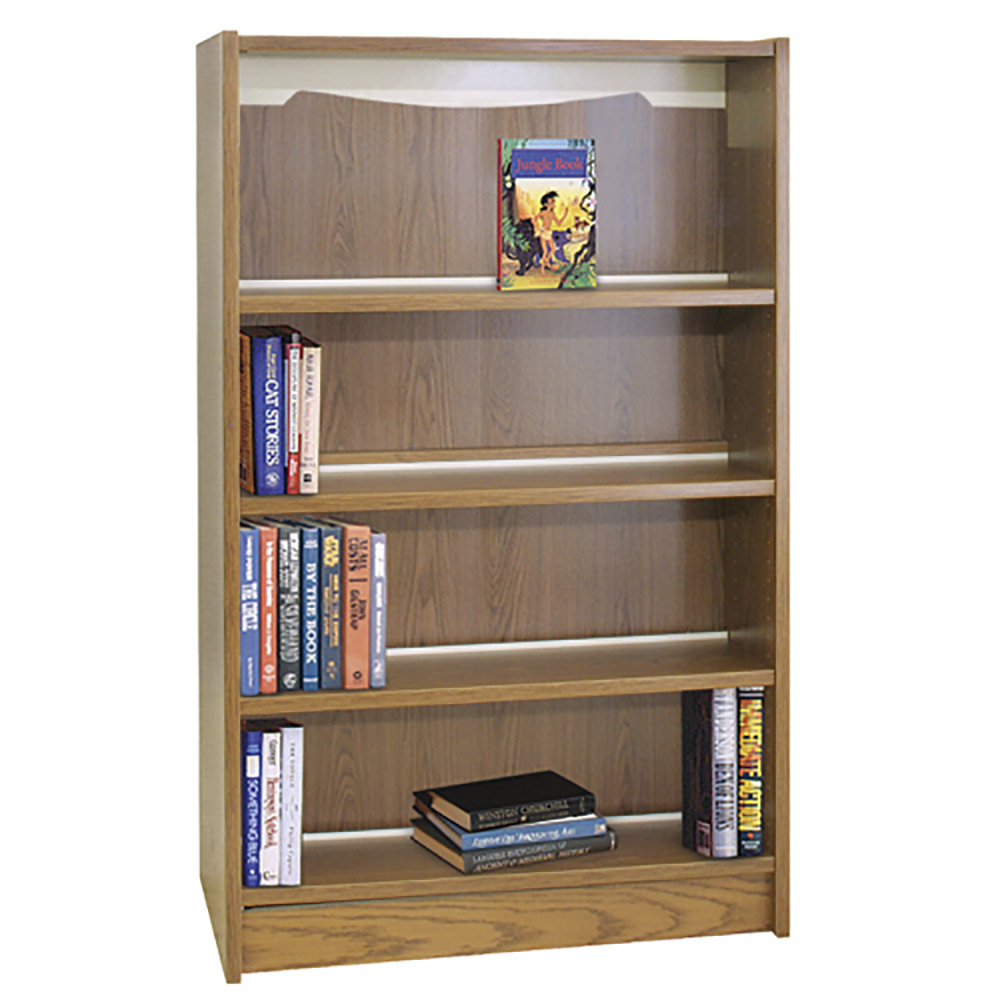 IRONWOOD Glacier™ Alpine Laminate Library Shelving - Double-Face