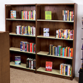 Atlantis™ Wood & Steel Library Shelving - Single-Faced