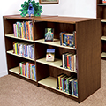 Wood & Steel Library Shelving