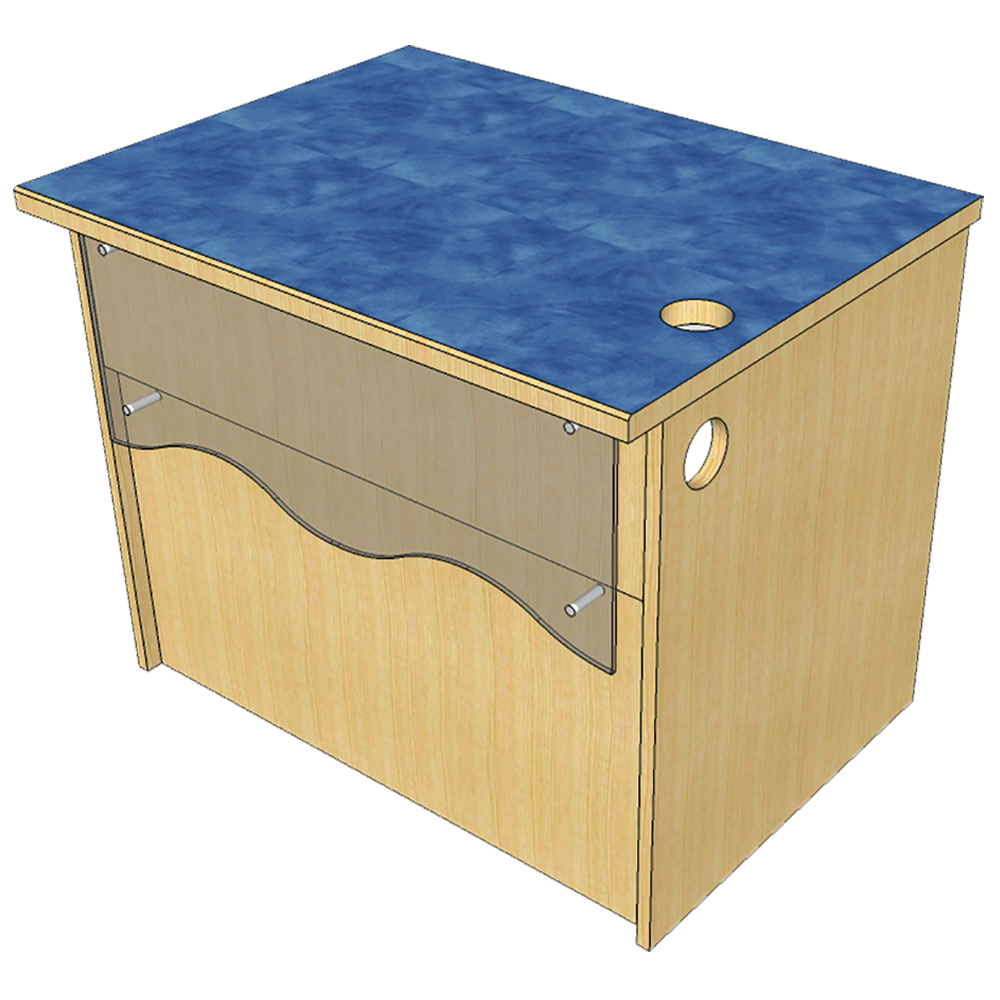 Reference Desk Atlantis™ Modular Wood Circulation Desk