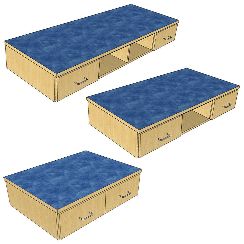 Drawer Boxes for Atlantis™ Modular Wood Circulation Desk
