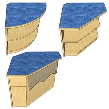 Corners for Atlantis™ Modular Wood Circulation Desk