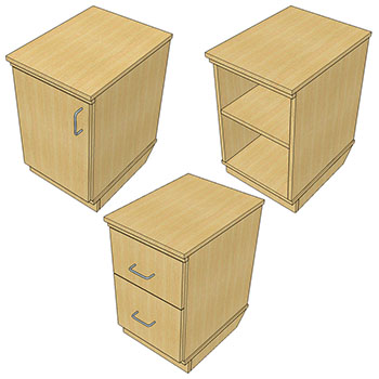 Pedestals for Atlantis™ Modular Wood Circulation Desk