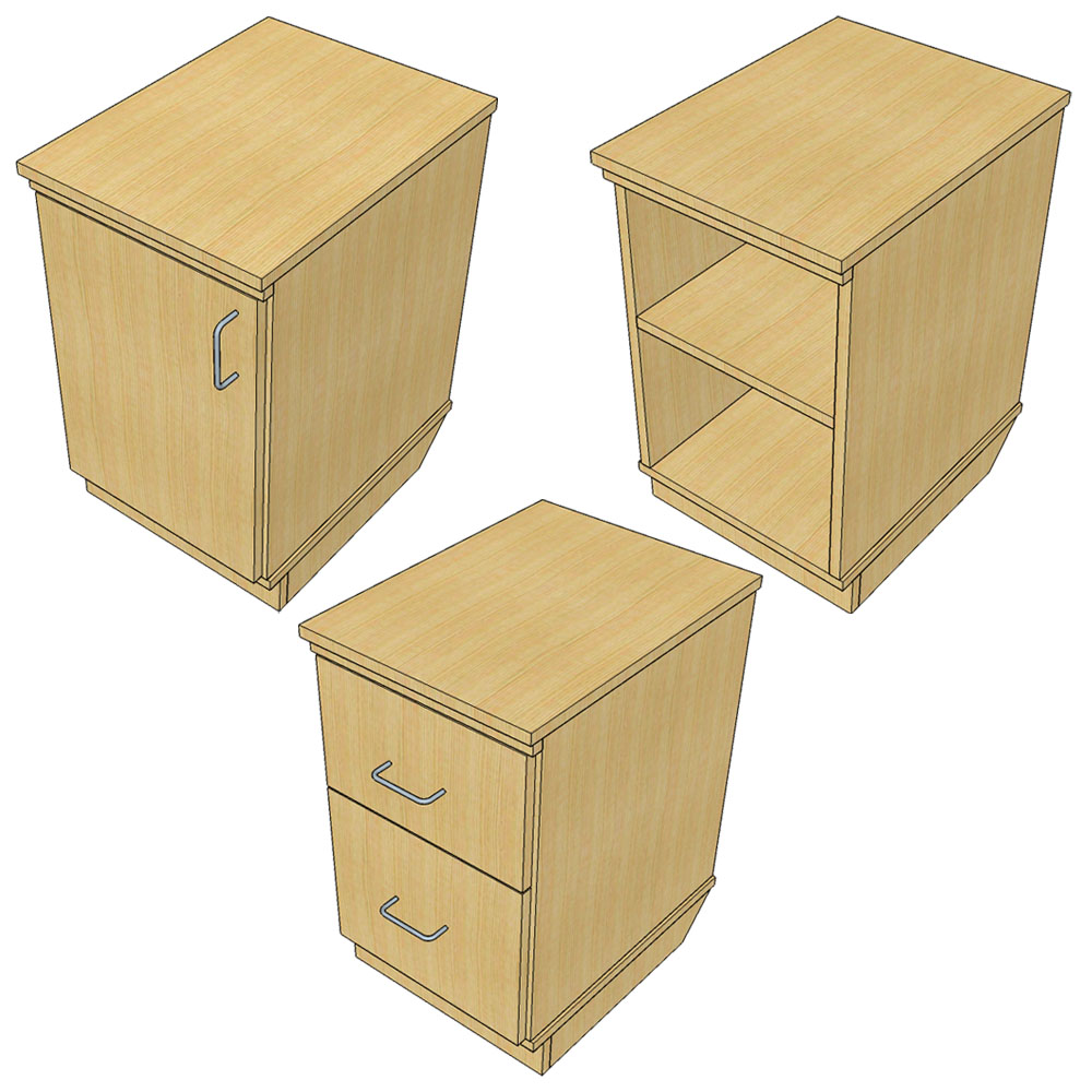 Pedestals for Atlantis™ Modular Wood Circulation Desk