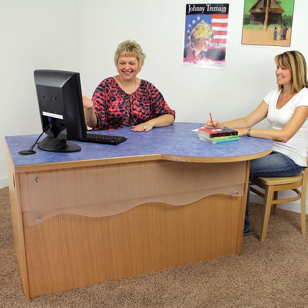 Consultation Desks for Atlantis™ Modular Wood Circulation Desk