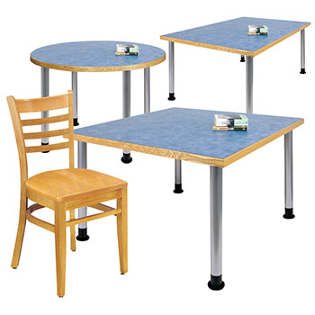 Atlantis™ Library Tables & Chairs - QuickShip