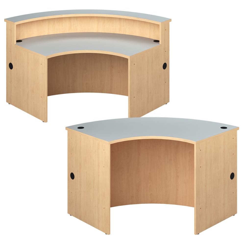 Curved Desks for the Russwood® Palette™ Wood Circulation Desk Curved Desk