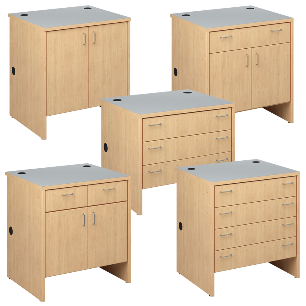 Cupboards for the  Russwood® Palette™ Wood Circulation Desk