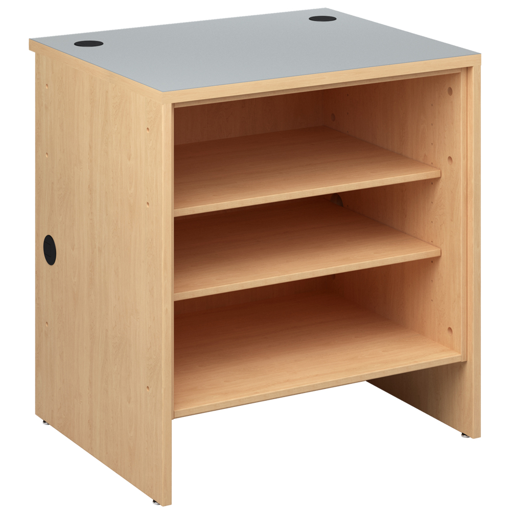 Open Shelf for the Russwood® Palette™ Wood Circulation Desk