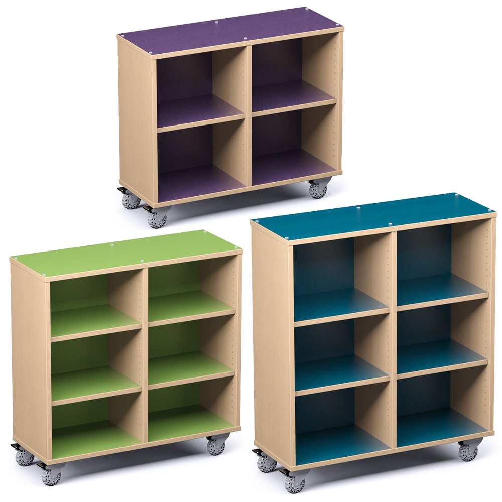 Russwood® Palette™ Cubby Mobile Shelving