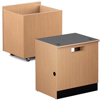 Book Returns for Nautilus™ Wood Circulation Desk