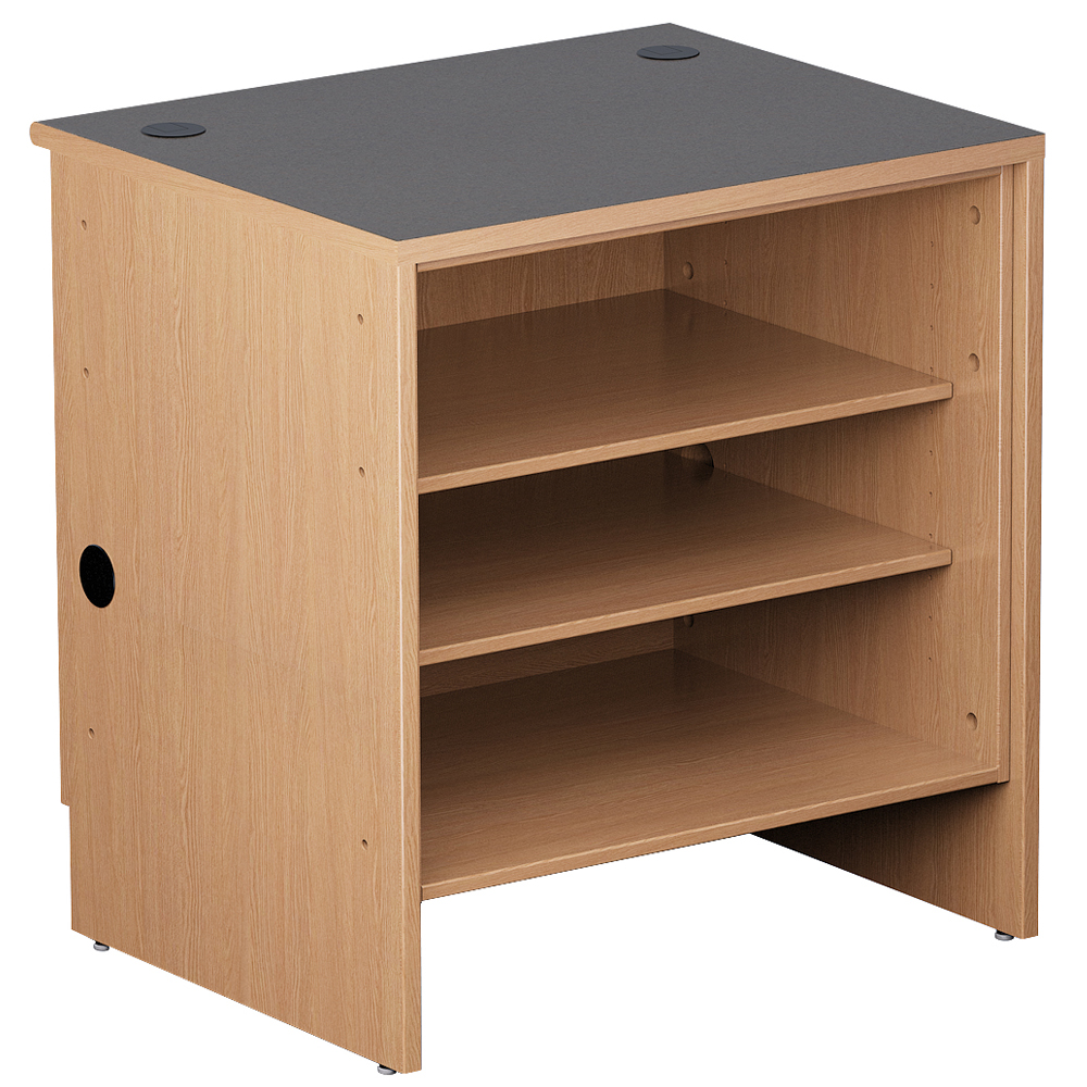 Open Shelf for Nautilus™ Wood Circulation Desk