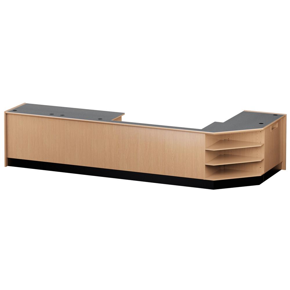 Nautilus™ Wood Circulation Desk - Small Circulation Group