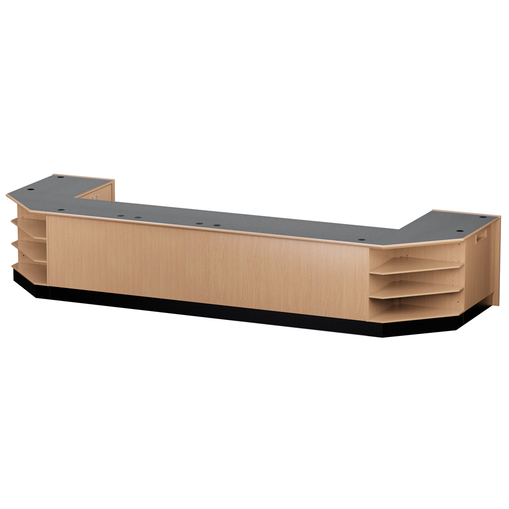 Nautilus™ Wood Circulation Desk - Large Circulation Group