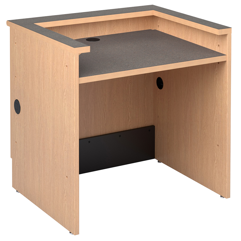 Reference Desks with Patron Ledge for Nautilus™ Wood Circulation Desk