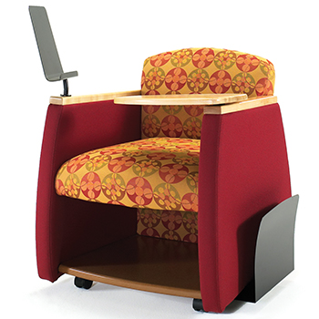 Lounge furniture hpfi genesis mobile team chair - Library lounge chairs ...