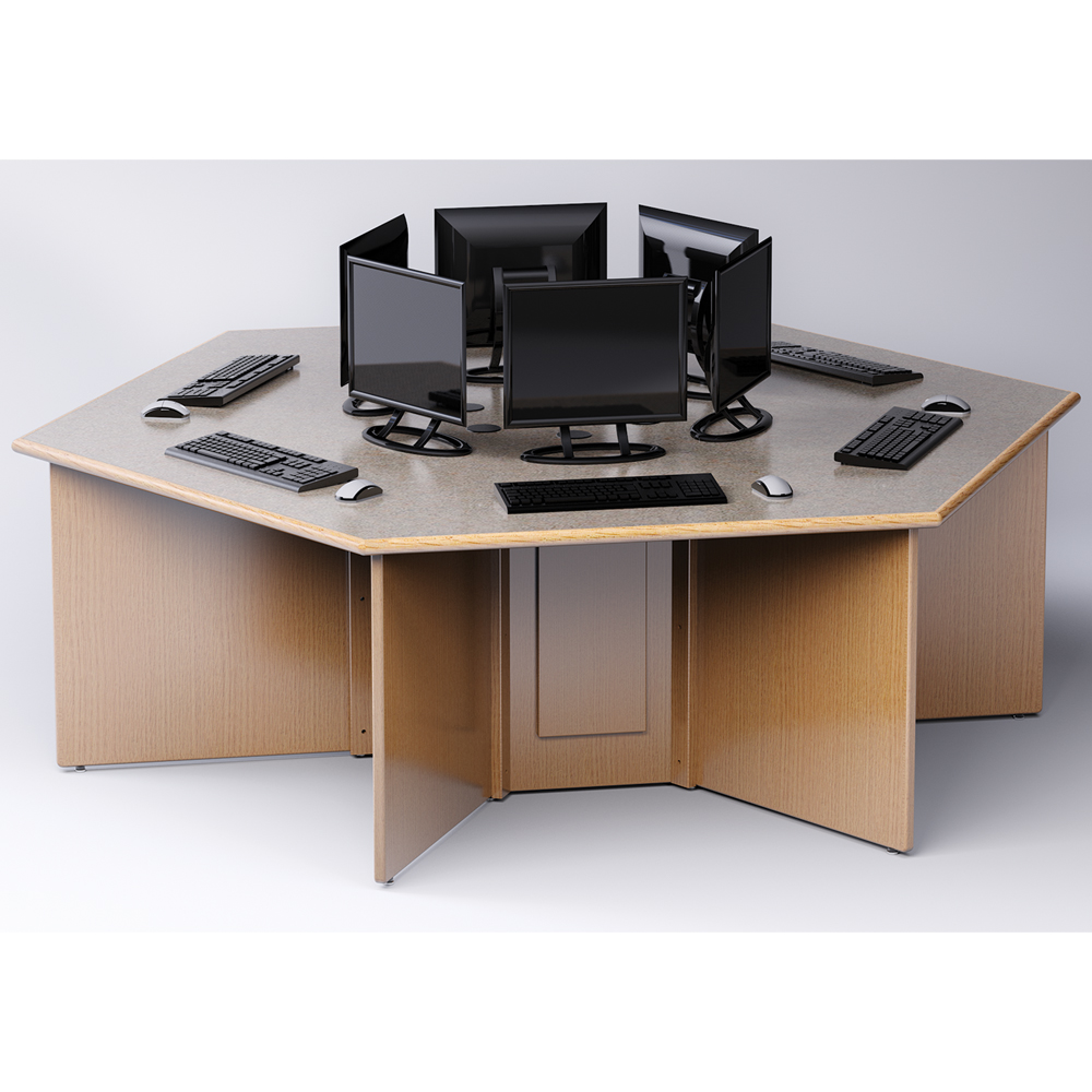 Russwood® Elite™ 6 Person Computer Stations