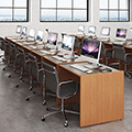 Russwood® Elite™ Flat Screen Computer Stations
