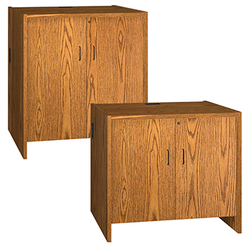 Hinged Door Cabinets for IRONWOOD Glacier™ Circulation Desk