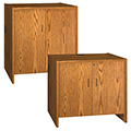 Hinged Door Cabinets for IRONWOOD Glacier™ Circulation Desk