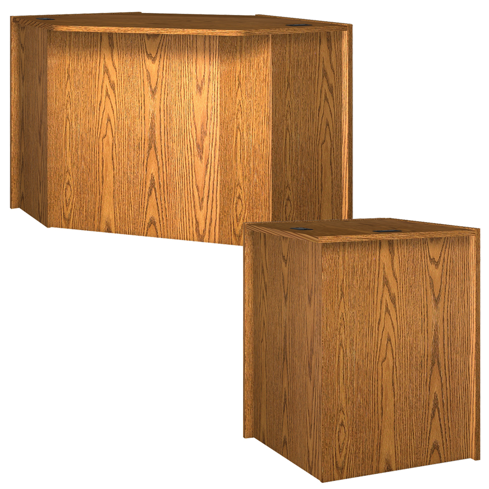 Corners for IRONWOOD Glacier™ Circulation Desk