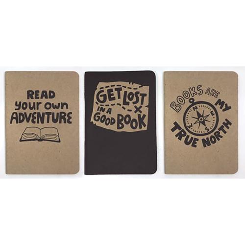 LoveLit™ Pocket Notebooks Set - Get Lost In A Good Book - 3/Pkg