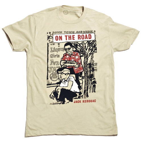 Save 74%   On The Road T-Shirt - CLEARANCE