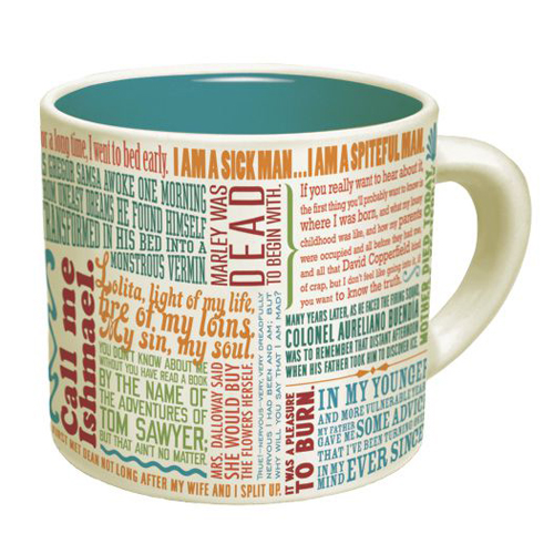 First Lines of Literature Literary Coffee Mug