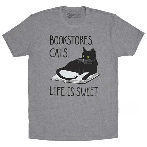 Bookstore Cats Mens/Unisex T-Shirt
