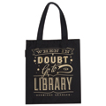 When In Doubt Go To The Library Flat Canvas Tote Bag