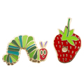 The Very Hungry Caterpillar Enamel Brass Pin Set - 2/Pkg