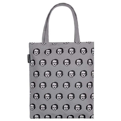 Edgar Allan Poe-Ka-Dots Flat Canvas Tote Bag