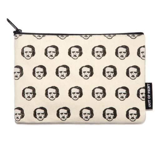 Edgar Allan Poe-Ka-Dots Flat Canvas Zippered Pouch