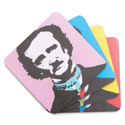 Edgar Allan Poe Coaster Set - 4/Pkg
