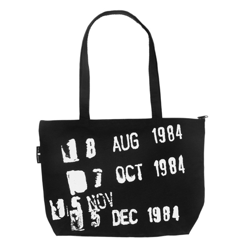 Library Stamp Gusseted Canvas Tote Bag