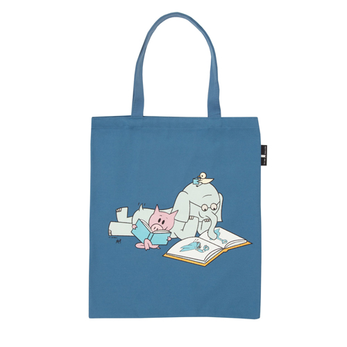 Elephant & Piggie Read Flat Canvas Tote Bag