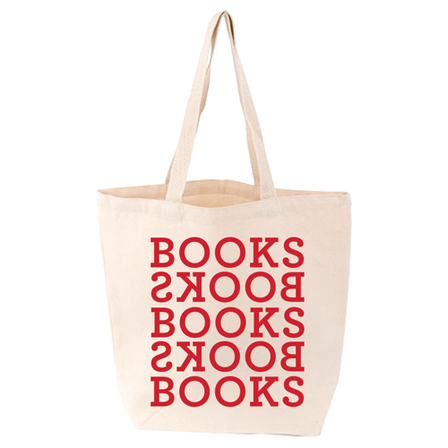 LoveLit Books Books Gusseted Canvas Tote Bag
