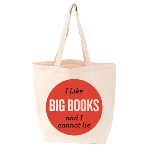 LoveLit I Like Big Books And I Cannot Lie Gusseted Canvas Tote Bag