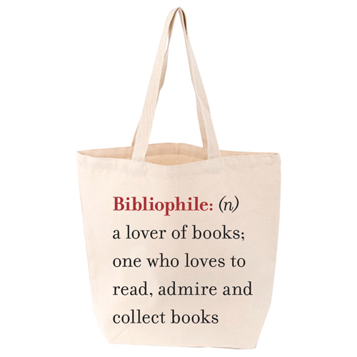 LoveLit Bibliophile Gusseted Canvas Tote Bag