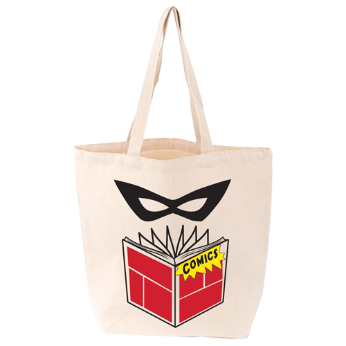 LoveLit Comics Gusseted Canvas Tote Bag